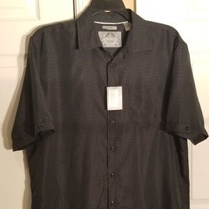 Bruno New York Sueded S/S button down shirt NWT